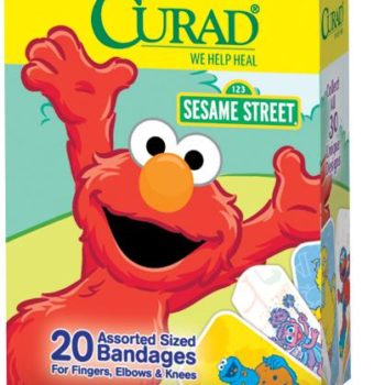 CURAD Sesame Street Adhesive Bandages,Cartoon,Yes