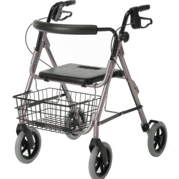 Guardian Deluxe Rollators with 8″ Wheels,Red,8″