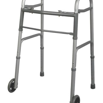 Youth Two-Button Folding Walkers with 5″ Wheels,Junior