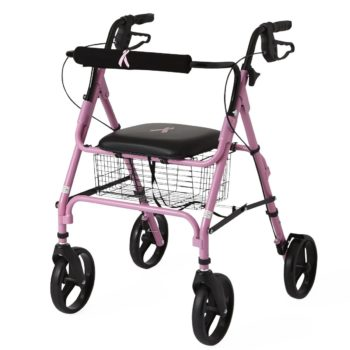 Rollators with 8″ Wheels,Pink,8″
