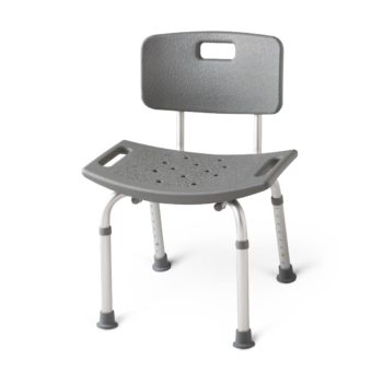 Aluminum Bath Benches with Back,White