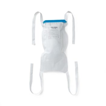 Refillable Ice Bags with Clamp Closure