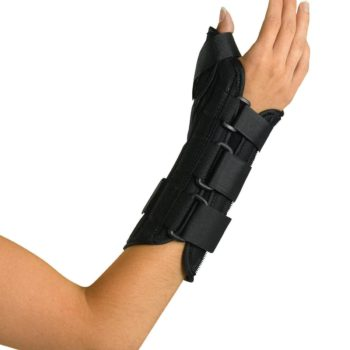 Wrist and Forearm Splint with Abducted Thumb,Large