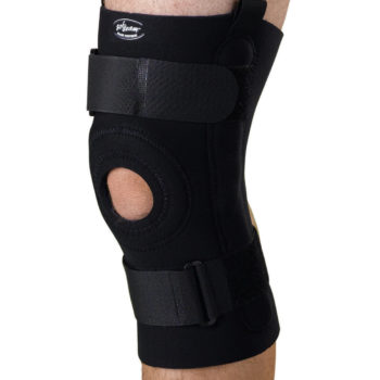 U-Shaped Hinged Knee Supports,Black,Small