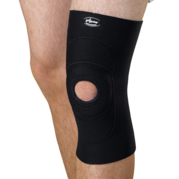 Knee Supports with Round Buttress,Black,4X-Large