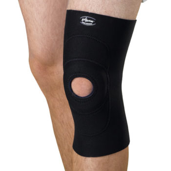 Knee Supports with Round Buttress,Black,Large