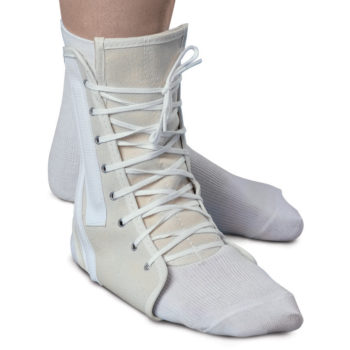 Lace-Up Ankle Supports,White,Large