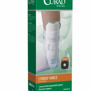 CURAD Universal Stirrup Ankle Splints,White,Universal