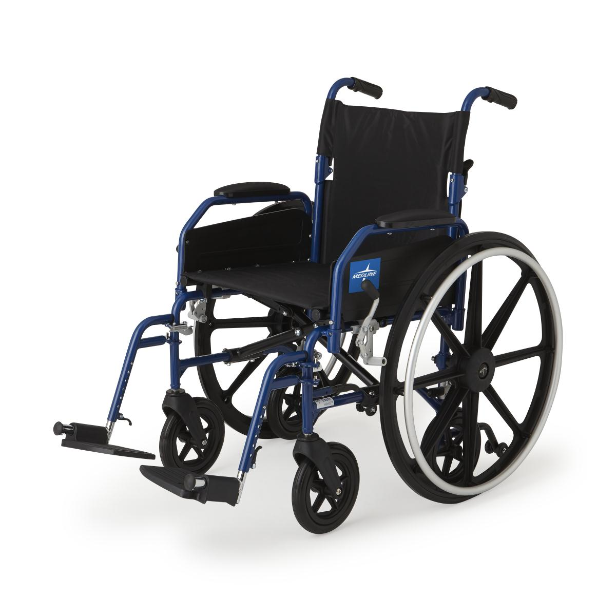 Hybrid 2 Transport Wheelchair Chair with Swing-Away Leg Rests