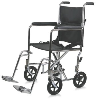Steel Transport Chair – Chrome
