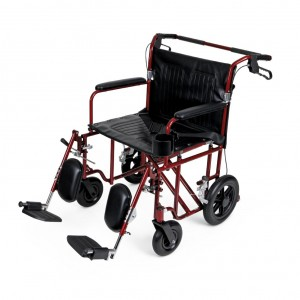 Lightweight Bariatric Transport Chair – Red