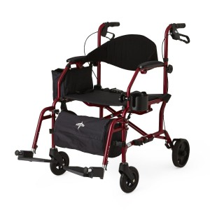 Combo Rollator – Transport Chair -Red