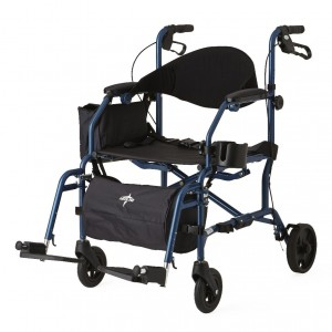 Combo Rollator – Transport Chair -Blue