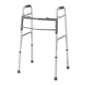 Two-Button Folding Walkers without Wheels,Standard
