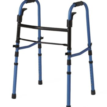 Folding Paddle Walkers with 5″ Wheels,Blue,Adult
