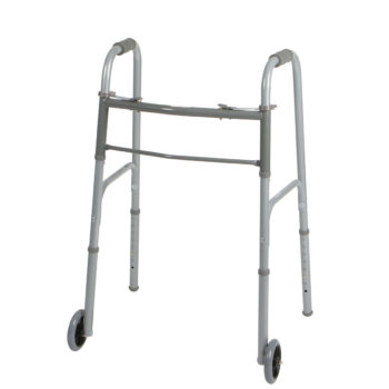 Two-Button Folding Walkers with 5″ Wheels – Adult – Pack of 4