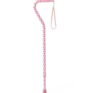 Offset Handle Fashion Cane, Pink