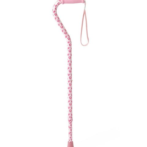 Offset Handle Fashion Canes,Pink