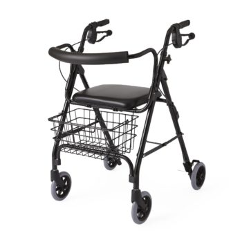 Rollator Deluxe – Black – 6 In.Whls