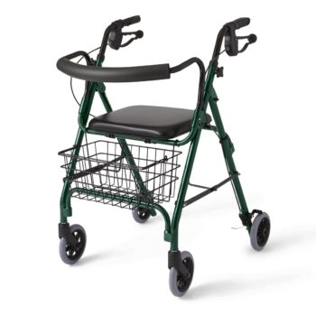 Rollator – Deluxe – Green – 6 In.Whls