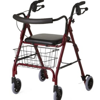 Rollators – Deluxe -Burgundy-6 In.Whls