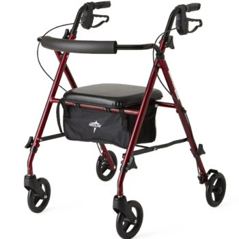 Rollator -UltraLight-Burgundy-6 In.Whls