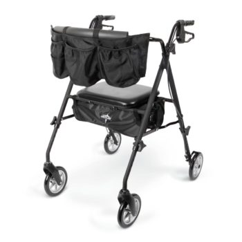 Rollator – Stealth – Black – 7 In.Whls