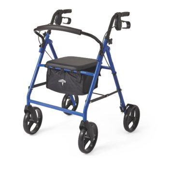 Rollator – Steel – Blue – 8 In.Whls