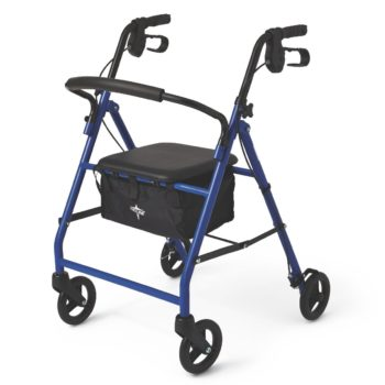 Rollator – Steel – Blue – 6 In.Whls