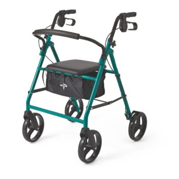 Rollator – Steel – Green – 8 In.Whls