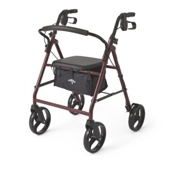 Rollator – Steel – Red – 8 In.Whls
