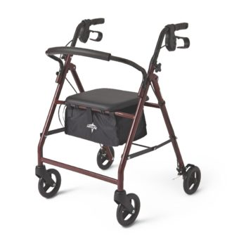Rollator – Steel – Red – 6 In.Whls