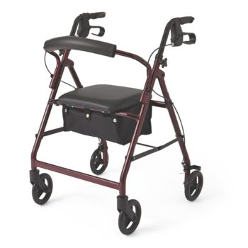 Rollator – Burgundy – 6 In.Whls