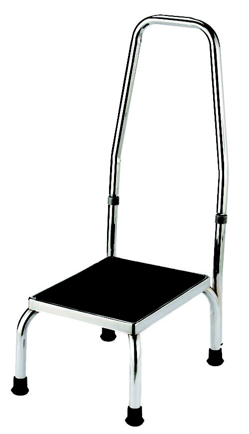Chrome Plated Foot Stool with Handle