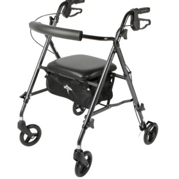 Rollator – UltraLight – Black -6 In.Whls