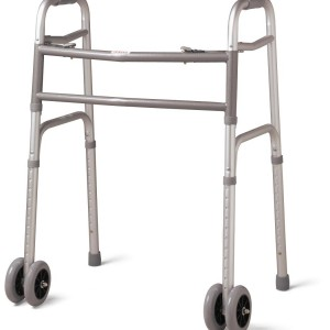 Bariatric Folding Walker with 5 Inch Wheels