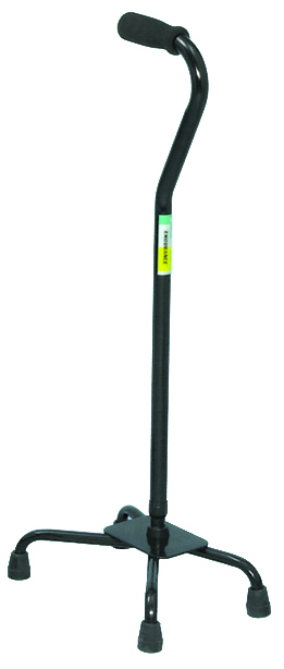 Large Base Quad Cane – Black