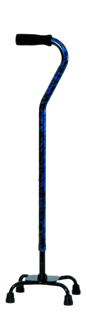 Designer Small Base Quad Cane - Indigo
