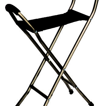 Endurance® Folding Seat Cane - 4 Legged
