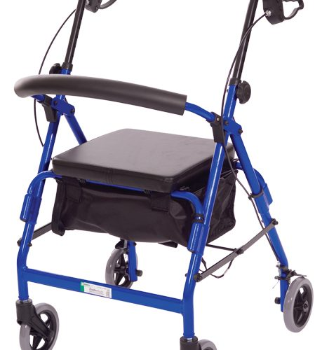 Featherlight™ 4 Wheel Walker w/Loop Hand Brakes - Red