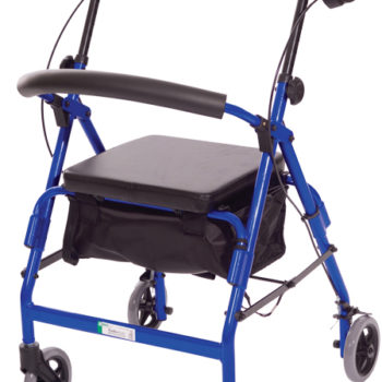 Featherlight™ 4 Wheel Walker w/Loop Hand Brakes – Silver