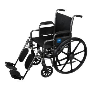Wheelchair – 22 Inch Seat Width – Elevating Leg Rests – Lightweight