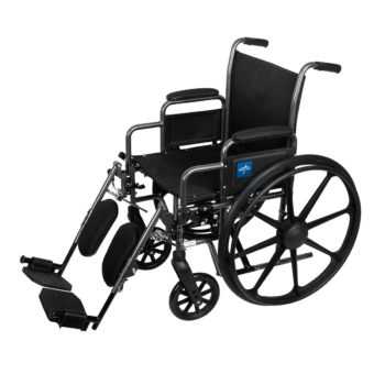 Wheelchair – 24 Inch – Seat Width – Elevating Leg Rests – Lightweight